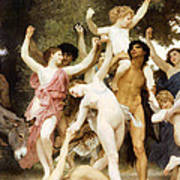 The Youth Of Bacchus Detail Art Print