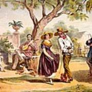 The Zapateado - National Dance, 1840 Art Print