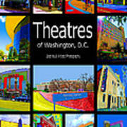 Theatres Of Washington Dc Art Print by Jost Houk