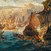 The Crusader Invasion Of Constantinople Art Print