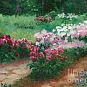 Thelma Steel's Garden Art Print by Ron Bowles