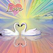 Themes Of The Heart-love Art Print