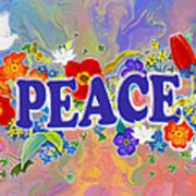 Themes Of The Heart-peace Art Print