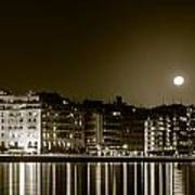 Thessaloniki At Night. Art Print by Slavica Koceva