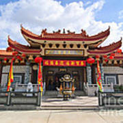 Thien Hau Temple A Taoist Temple In Chinatown Of Los Angeles. Art Print