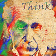 Think Art Print by Soumya Bouchachi