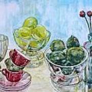 Thinking Of Cezanne Green Art Print