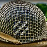 Third Infantry Division Helmet Art Print