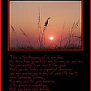 This Is The Beginning Of A New Day Art Print by Bill Cannon