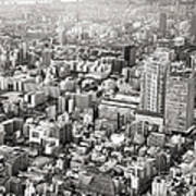 This Is Tokyo In Black And White Art Print