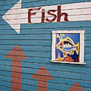 This Way To The Fish Art Print