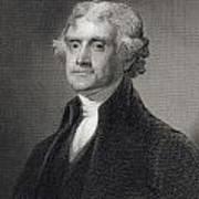 Thomas Jefferson Art Print by Gilbert Stuart