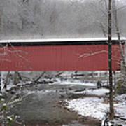Thomas Mill Covered Bridge Along The Wintery Wissahickon Art Print