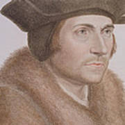 Thomas More Art Print by Hans Holbein the Younger