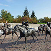 Thoroughbred Park Art Print by Roger Potts