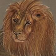 Thoughtful Lion 2 Art Print
