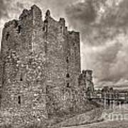 Threave Castle In Grey Art Print