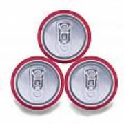 Three Aluminum Drink Cans Shadow Art Print