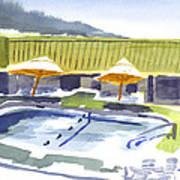 Three Amigos Poolside Art Print