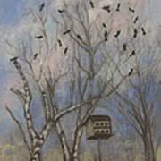 Three And Twenty Blackbirds Art Print