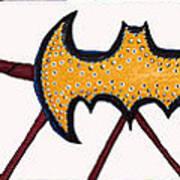 Three Bat Signals Art Print