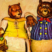 Three Bears Family Portrait Print by Bob Orsillo