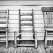 Three Chair Porch Art Print