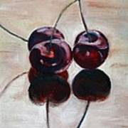 Three Cherries Art Print