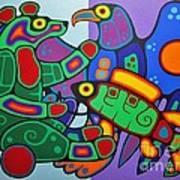 Three Clans Meet Art Print