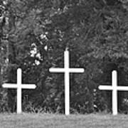 Three Crosses Art Print