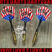 Three Darts Art Print