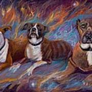 If Dogs Go To Heaven Art Print