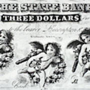 Three Dollar Bill, 1856 Art Print