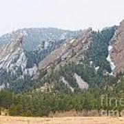 Three Flatirons Boulder Colorado Art Print