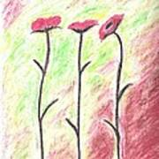 Three Flowers Art Print by Scott Ware