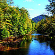 Three Forks Williams River Early Fall Art Print by Thomas R Fletcher