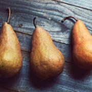 Three Gold Pears Art Print