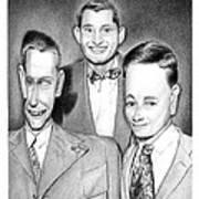 Three Guys Art Print