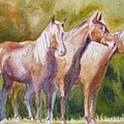 Three Horses Art Print