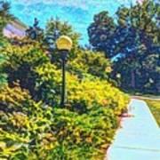 Three Lamp Posts Art Print