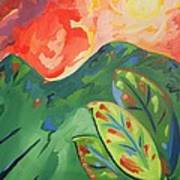Three Leaf Art Print