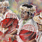 Three Mamas From Tahiti Art Print