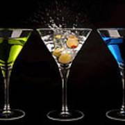 Three Martinis Art Print