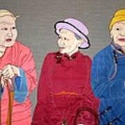 Three Mongolians Art Print