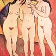 Three Naked Girls Art Print