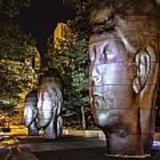 Three New Faces In Chicago's Millennium  Park Art Print