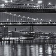 Three New York Bridges II Art Print