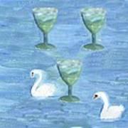 Three Of Cups Art Print