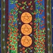 Three Of Pentacles Art Print