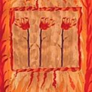 Three Of Wands Art Print